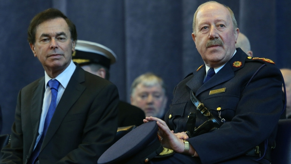 The letter from Martin Callinan (right) asked that Alan Shatter be informed of details of the recordings