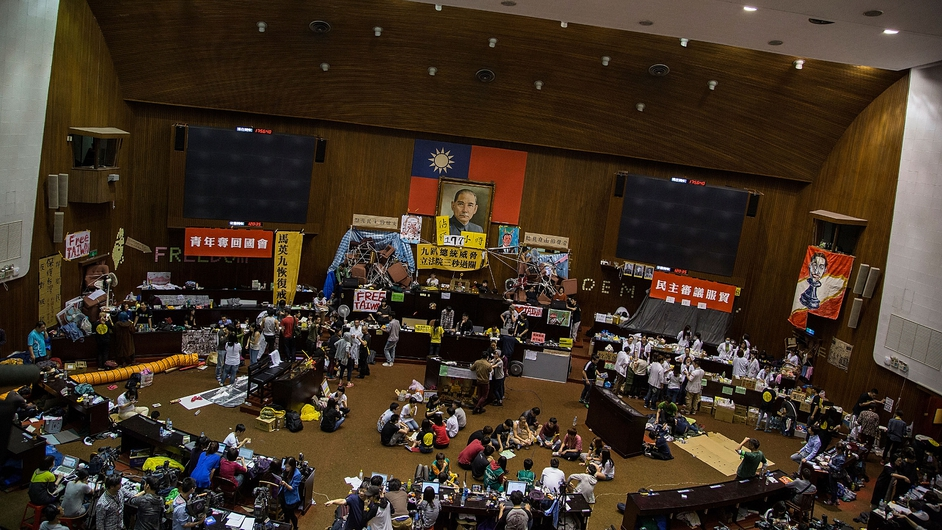 Student protesters continue to occupy the Taiwanese parliament in Taipei