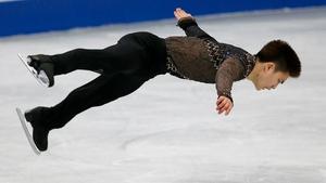 Yan Han of China performs at the ISU World Figure Skating Championships in Japan (Pic: EPA)