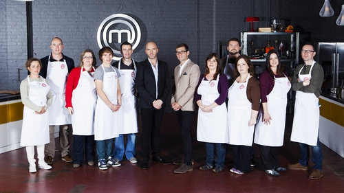 Judges Nick Munier and Dylan McGrath with the final ten contestants