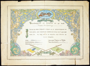 A first aid certificate awarded to Máire Nic Shiubhlaigh (Courtesy of the National Library of Ireland)