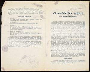 An early version of the Cumann na mBan constitution (Courtesy of the National Library of Ireland)