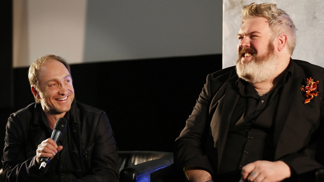 Michael McElhatton and Kristian Nairn at a Q&A session in the Light House cinema, Smithfield