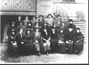 The Executive of Cumann na mBan at the convention when they voted against the Treaty on 5 Feb 1922 (Pic: Sighle Humphreys Archive)