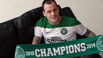 Celtic's Anthony Stokes is already looking forward to European soccer next season following Celtic's title win