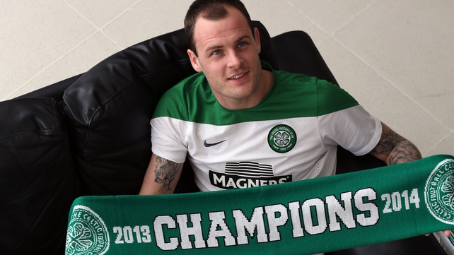Ireland international Anthony Stokes scored a double for Celtic