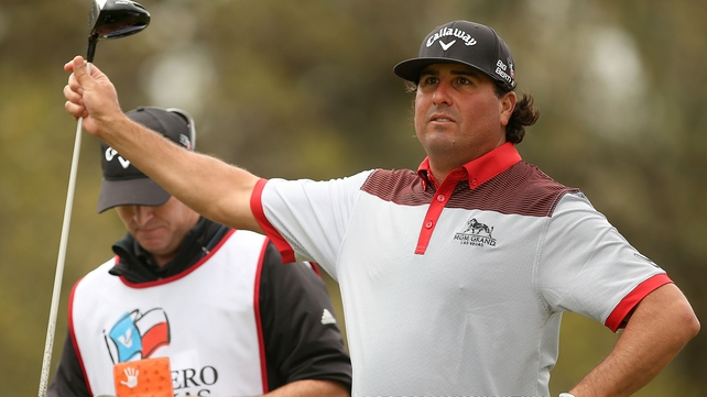 Pat Perez holds a share of the lead at the Texas Open