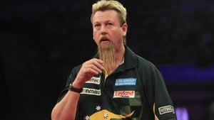 Simon Whitlock has crashed out early at Ally Pally