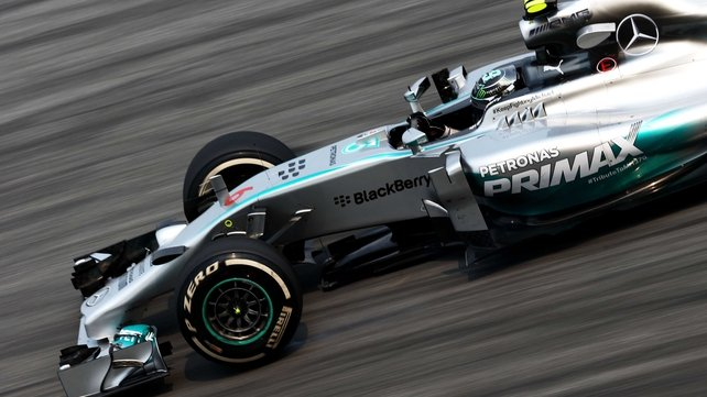 Nico Rosberg topped the timesheets at the Malaysian Grand Prix practice