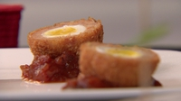 Scotch quail eggs - One of the Red Team's recipes from the Croke Park challange