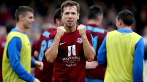 Declan O'Brien grabbed the vital goal for Drogheda on the half-hour mark