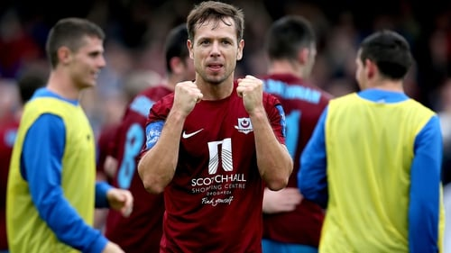 Declan O'Brien's hat-trick gave Drogheda all three points