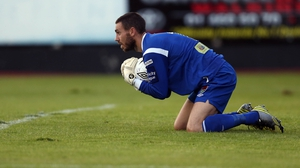 Cork goalkeeper Mark McNulty had a quiet night against Athlone