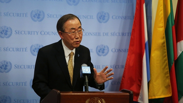 Ban Ki-moon briefed the UN Security Council on his recent talks in Moscow and Kiev