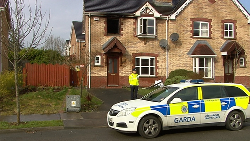 Gardaí and the fire service were called to the house after 9pm last night