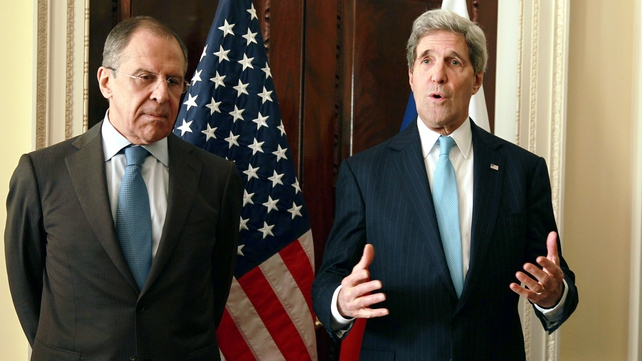 Mr Lavrov and Mr Kerry have met several times to discuss the crisis in Ukraine