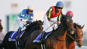 Ryan Moore, pictured here aboard Gentildonna at the Japan Cup in November