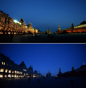 Moscow was one of the first European cities to turn off its lights