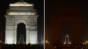 The India Gate monument in New Delhi