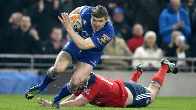 Brian O'Driscoll was taken off not long after scoring, having taken a knock