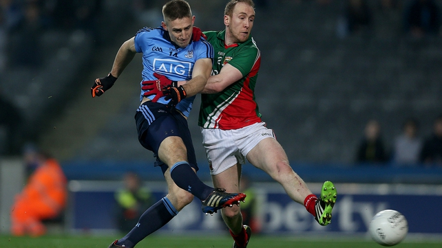 Dublin's Eoghan O'Gara scores the first of his two late goals