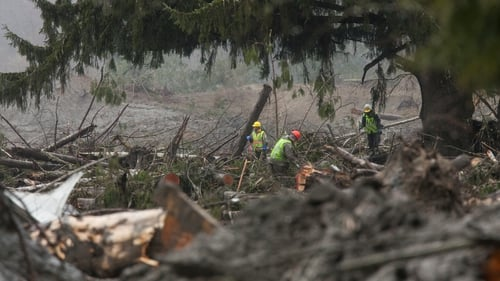 An estimated 180 people lived in the path of the landslide