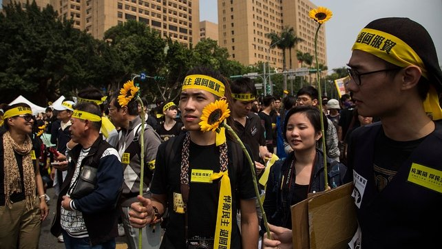 The protesters vowed to hold a peaceful demonstration