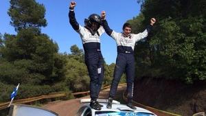 Scott Martin and Craig Breen celebrate their victory