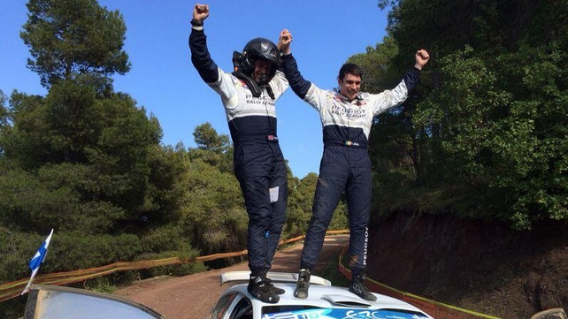 Scott Martin and Craig Breen celebrate their victory