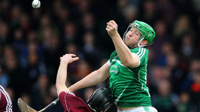 Limerick's Shane Dowling and Ronan Burke of Galway