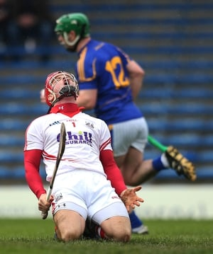 Dejection from Cork goalkeeper Anthony Nash, whose side came up just short against Tipperary