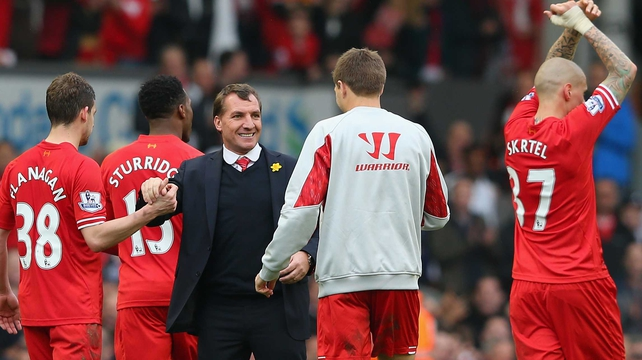 Brendan Rodgers: 'We don't feel it (the pressure). We're very confident with how we play'