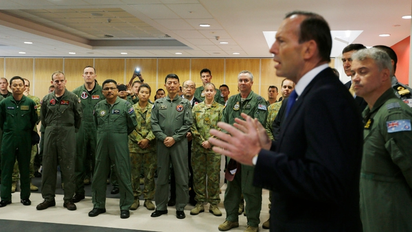 Tony Abbott said searchers owe it to the families to continue the hunt