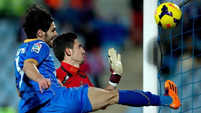 Angel Lafita scored Getafe's opener against Valencia