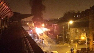 A number of houses were damaged in a suspected explosion in Dublin last night (Pic: Anna Shanley)