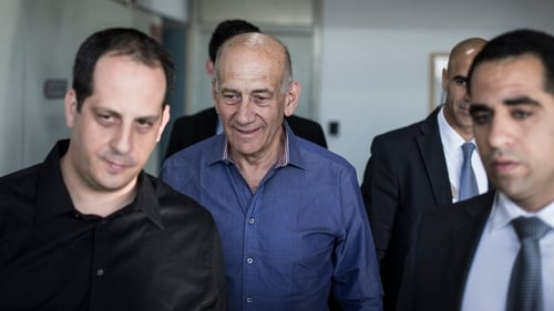 Former Israeli prime minister Ehud Olmert was convicted in March