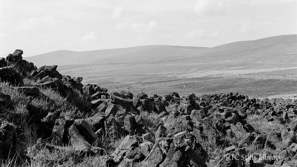 Turf Stacks, Wicklow Mountains © RTÉ Archives 2205/021