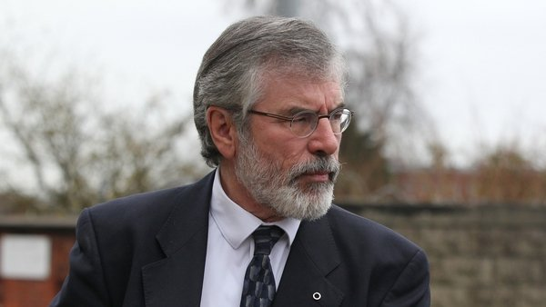 Gerry Adams says there is an opportunity to send out a powerful message of hope