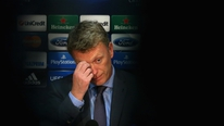Man Utd manager David Moyes speaks to the press following their Champions League exit