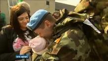 Irish troops deployed to Syria return home