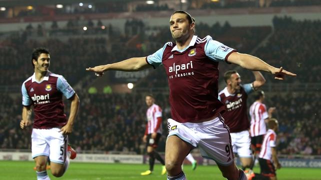 Andy Carroll grabbed opening goal against Sunderland