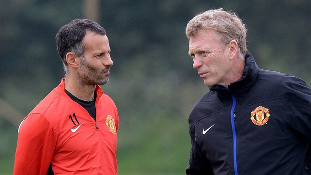 Ryan Giggs dismissed claims of a rift with United manager David Moyes