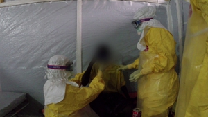 Eight confirmed cases of Ebola have been recorded in the capital, Conakry (Pic: MSF)
