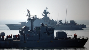 South Korean warships patrol waters near the inter-Korean western maritime demarcation line (Pic: EPA)