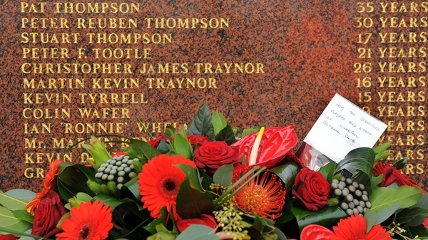 The names of the 96 victims are on a memorial outside Liverpool's Anfield stadium