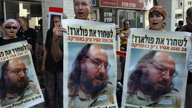 Israelis call for the release of Jewish-American spy Jonathan Pollard