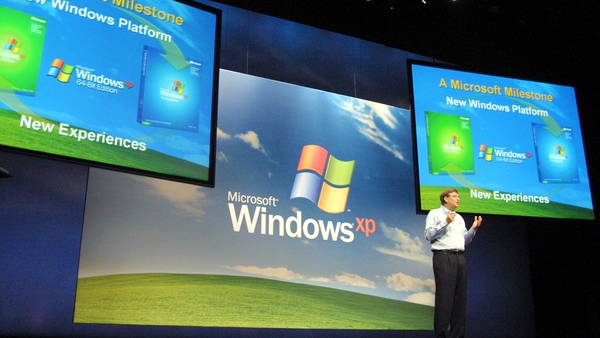 Microsoft's Windows XP was released in 2001