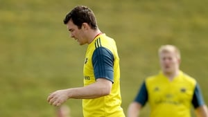 Peter O'Mahony took part in Munster training, but his hamstring injury is being monitored