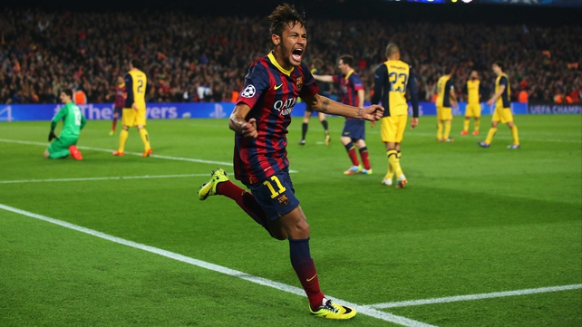 Neymar's goal cancelled out Diego's opener