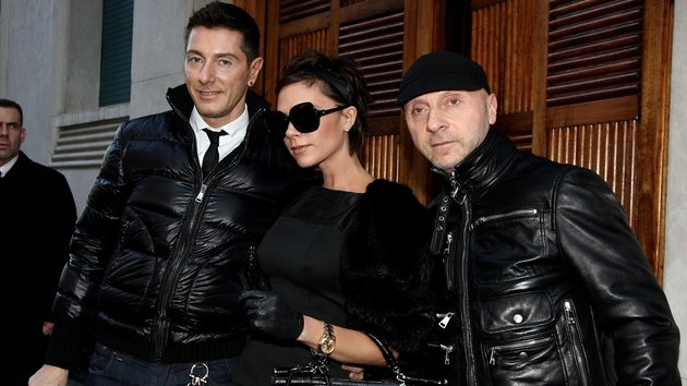 Dolce & Gabbana and Beckham, pictured in Milan in 2008